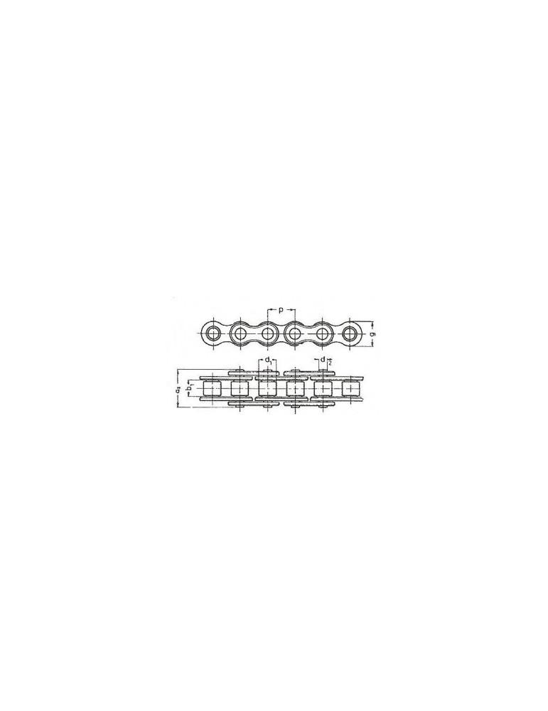 Chaine a rouleaux simple 12.7  08b1  diamond (boîte 5m) ref: chn08b1