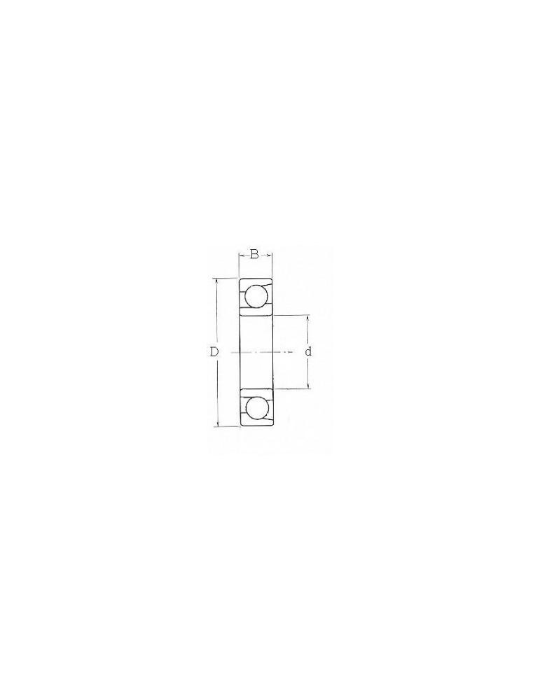 Roulement à contact angulaire 7204b- tvp  fag ref:rlt7204b