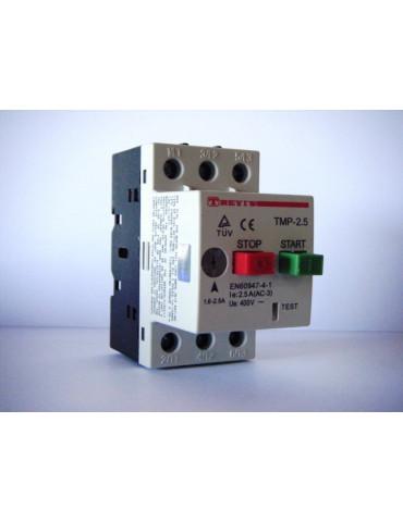 Disjoncteur magnéto-thermique pour moteur plage de 1.6 à 2.5A TREVIS ref: TMP2.5