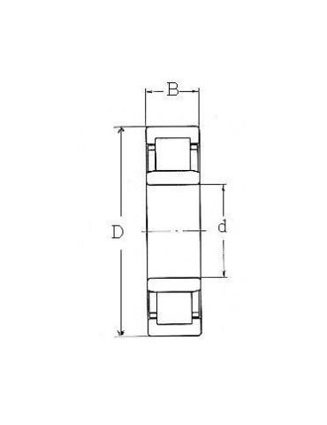 Roulement à une rangée rouleaux cylindriques nu2212etvp2  fag ref:rltnu2212etvp2