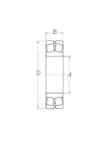 Roulement à deux rangées de rouleaux sphériques 22215e skf ref:rlt22215e