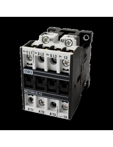 Contacteur tripolaire de puissance 10A 1 NF bobine 230v 50hz IMO ref : MC10N01230AC