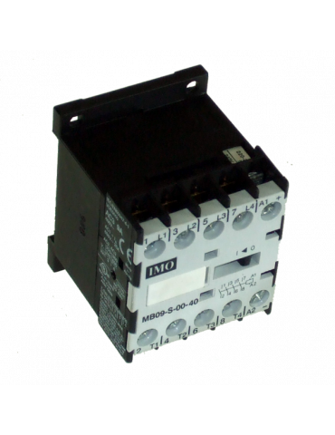 Contacteur tripolaire de puissance 9A 1 NO bobine 230v 50hz IMO ref : MB09S10230AC