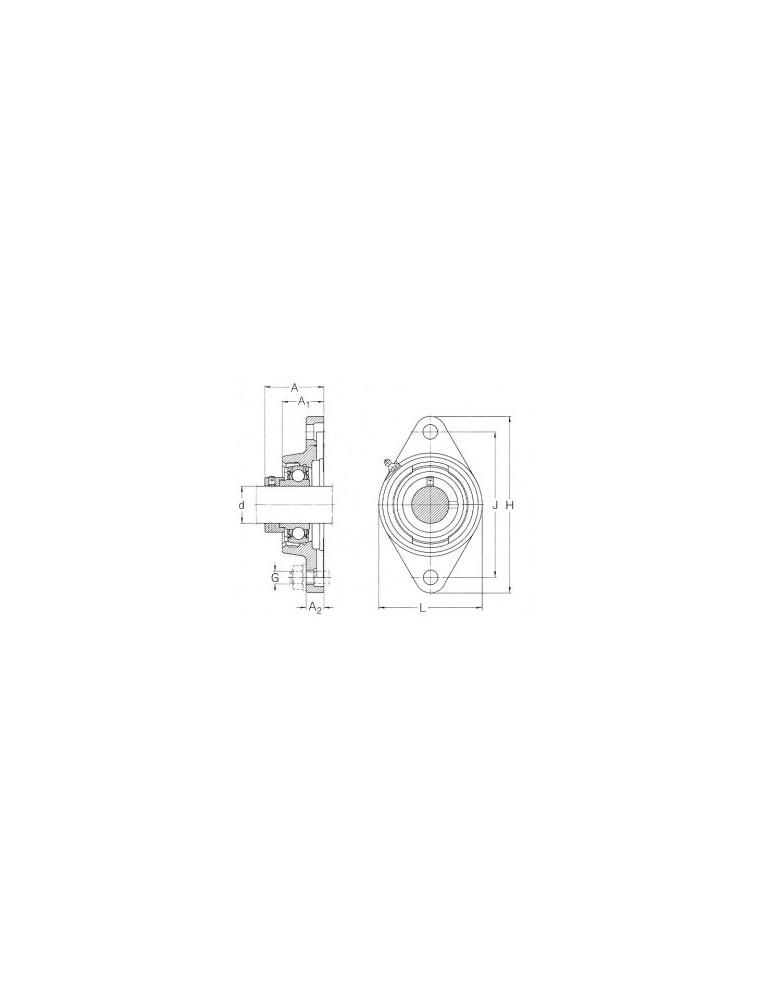 Palier applique fonte ucfl204 tr ref: palucfl204