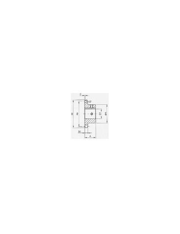 Pignon 19.05 simple 25 dents A42 ref: pig12b1/25A42