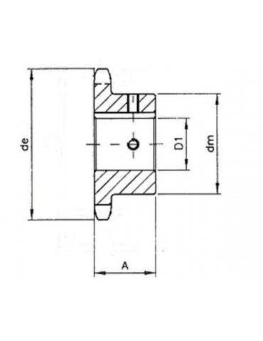 Pignon 12.7 simple 10 dents A14 ref: pig08b1/10A14