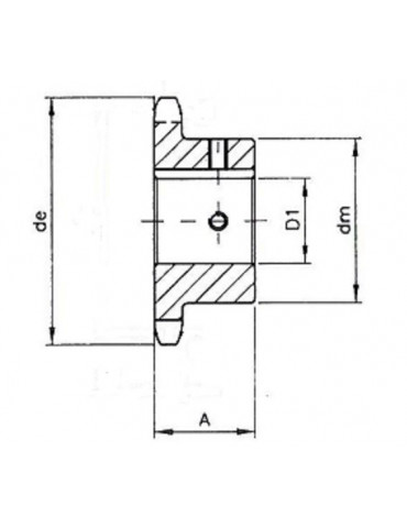 Pignon 12.7 simple 10 dents A15 ref: pig08b1/10A15