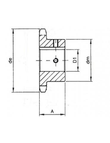 Pignon 15.8 simple 10 dents A15ref: PIG10B1/10A15