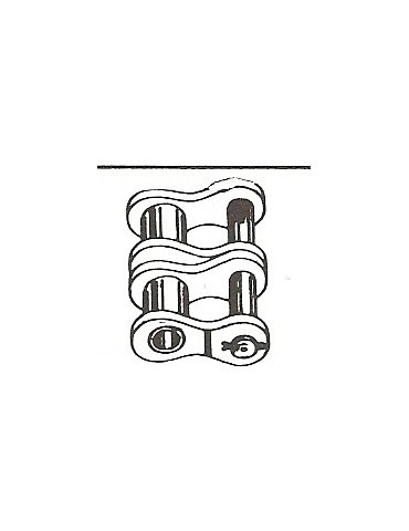 Maillon coude double pour chaine double 38.1  24b2 BTC ref: MCS24B2