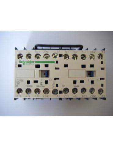 Contacteur inverseur de puissance tripolaire 9A 2 NO bobine 24v dc ref: LP2K0910BD