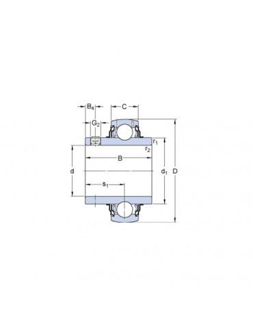 Roulement de palier YAR205 2F SKF ref : YAR2052F