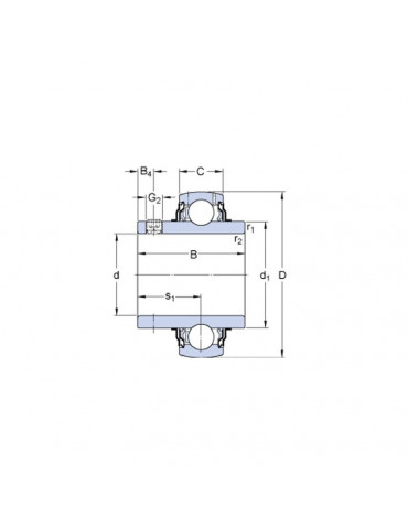 Roulement de palier YAR206 2F SKF ref : YAR2062F