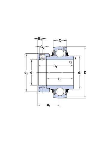 Roulement de palier avec bague de serrage excentrique SKF ref : YEL205
