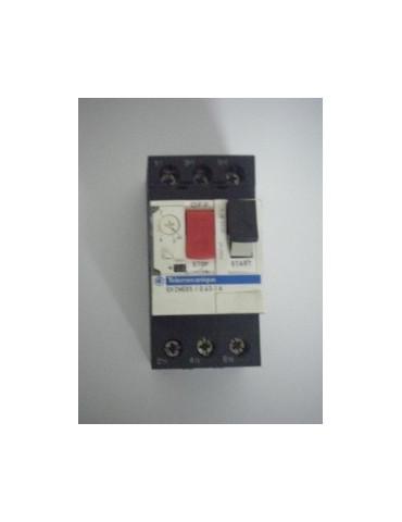 Disjoncteur magnéto-thermique pour moteur gv2 me06 plage de 1 à 1.6a ref: gv2me06