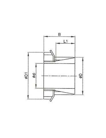 Manchon conique A55 skf réf: H2312